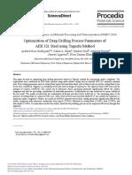 Optimization of Deep Drilling Process Parameters of AISI 321 Steel Using Taguchi Method