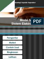 2.6 Model Matematika Sistem Elektromekanik