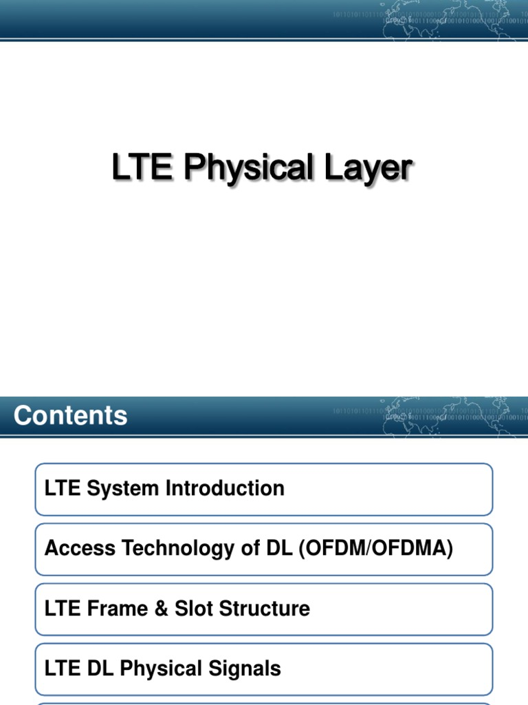LTE Physical Layer | Orthogonal Frequency Division Multiplexing ...