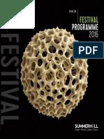 Summerhall Fringe Programme 2016