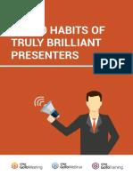 The 20 Habits of Truly Brilliant Presenters