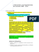 Términos de Intercambio y Las Exportaciones de Perú Durante 1996