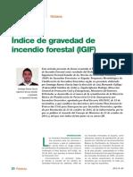 Índice de gravedad de incendio forestal (IGIF)