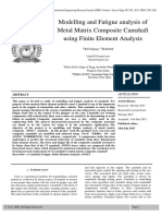 Modelling and Fatigue Analysis of Metal Matrix Composite Camshaft Using Finite Element Analysis