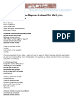 Bollymeaning.com-Chhamak Chhoriyan Se Nayanwa Ladawat Wat Wat Lyrics Translation Tamasha
