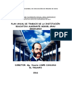 Plan Anual Miguel Grau 2016