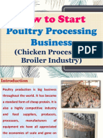 How to Start Poultry Processing Business (Chicken Processing, Broiler Industry)