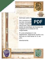 Carta Hogwarts (Ejemplo)