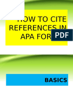 How to Cite References in Apa Format