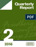 Second Quarter 2016 - Quarterly Report