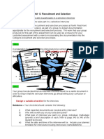P4 Task Sheet for Checklist Shotlist Questions and Interview Assesment Form