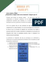 3-Modulo No. 1 - Las Tics