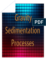Topic 06 Gravity Sedimentation