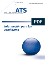 bulats candidateCandidate Es