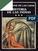 Historia de Las Indias Bartolome de Las Casas