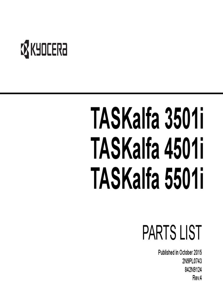 Taskalfa 3501I Taskalfa 4501I Taskalfa 5501I: Parts List