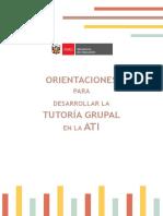 ATI-Orientaciones Para Desarrollar La Tutoría Grupal