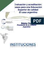 Nestor Pan - Experiencia Argentina en Acreditación