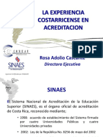 Rosa Adolio - Experiencia Costarricence en Acreditacion