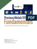 Precious Metals 101 Fundamentals