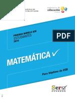 Prueba Modelo Matematica- 7 Out