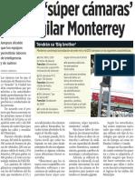 15-07-16 Buscan 'súper cámaras' para vigilar Monterrey