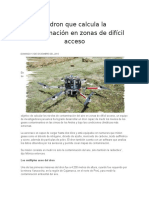 El Dron Que Calcula La Contaminación en Zonas de Difícil Acceso