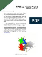 AV Bros. Puzzle Pro 3.0 Help