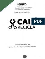 Cais Recicla - (protótipo de) loja online