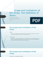 The Scope and Limitations of the Study