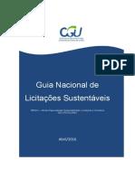 CONSULTORIA-GERAL DA UNIÃO Guia Nacional de Licitações Sustentáveis (2016)