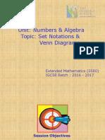 Set Notations & Venn Diagrams