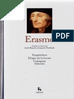Bayod, J. y Parellada, J. -  Estudio introductorio al vol. Erasmo de Rotterdam de la colección Grandes Pensadores de Gredos
