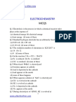 Electrolysis MCQ