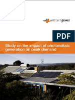 Study on the Impact of Photovoltaic (PV) Generation on Peak Demand