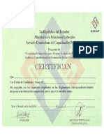 Certificado Cecap Vacio