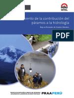 Modelamiento de La Contribucion Del Paramos a La Hidrologia en El Peru