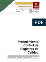 12. Procedimiento Control de Registros de Calidad