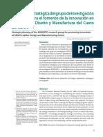 Planeación Estratégica Del Grupo de Investigación BIOMATIC Para El Fomento de La Innovación en El Centro de Diseño y Manufactura Del Cuero Del SENA