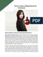 Bandar Judi Live Casino Paling Murah Di Indonesia