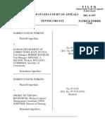 Perkins v. KS Dept. Corrections, 10th Cir. (1997)