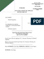 Hardy v. S.F. Phosphates, 185 F.3d 1076, 10th Cir. (1999)