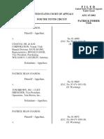 Coando v. Coastal Oil & Gas, 10th Cir. (2002)