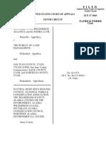 Southern Utah v. Bureau of Land, 10th Cir. (2003)