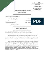 United States v. Bodenheimer, 10th Cir. (2006)