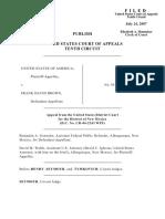 United States v. Brown, 496 F.3d 1070, 10th Cir. (2007)