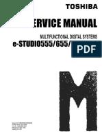 Toshiba Estudio 555-655-755-855 Service Manual