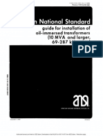 American National Standard for Installation of Above 10mva Tr Belo300kv