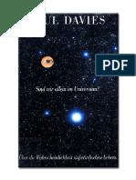 Davies, Paul - Sind Wir Allein Im Universum