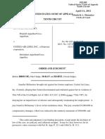 McInerney v. United Air Lines, Inc., 10th Cir. (2011)